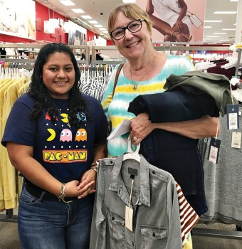 "Roselina Cota and her Teen Closet ""personal shopper,"" Mary Ewald, shop at Target."
