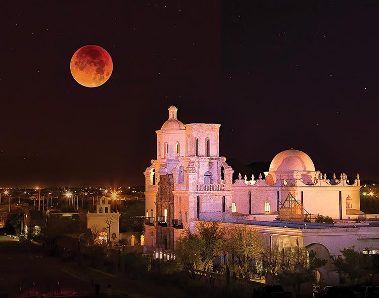 San Xavier Eclipse; Photo by Robert Shea.