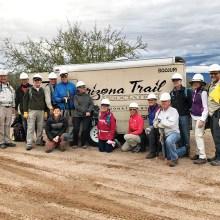 December Arizona Trail Work Party; Photo by Zach MacDonald.
