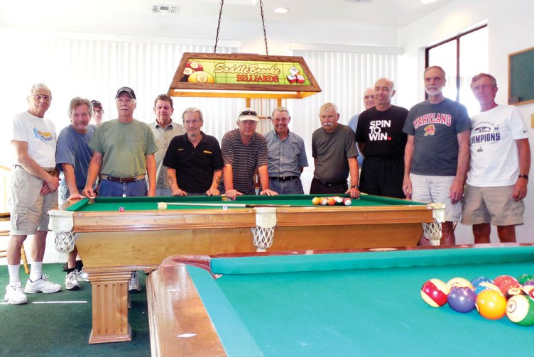 The participants in the first 8-ball tournament. undefined