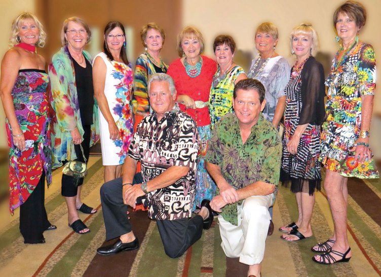 Front row: Steve Andrasic, Mike Oliverio; second row, left to right: Sally Grasso, Jan Christensen, Jeanne Osterlund, Ann Terrell, Alyce Grover, Mary Spyros, Tove Pape, Naomi Miller and Mary Ann Nemecek