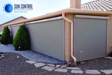 An example of an installation by Sun Control Retractable Shades