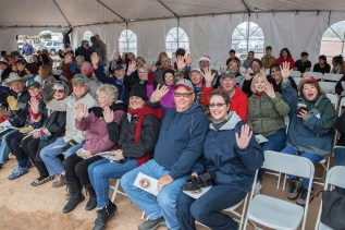 The SaddleBrooke Ranch residents under the tent