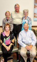 SBRTA Officers: seated, President Janice Neal and Vice President Steve Ordahl; standing, Treasurer Linda Bowman, Membership Chairperson Ted Wierman and Events Chairperson Sheila Bray. Not pictured, Secretary Rich Ferris