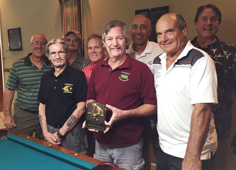 Left to right: Jim Donat, Joe Giammarino, Gary Powers, Karl Knight, Dominic Borland, Jim Fabio, Bruce Fink and Tom Barrett