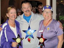Cook Off winners, left to right: Teresa Burchfield, third place; Kosmo Kramer, first place; Susan Engebretson, second place