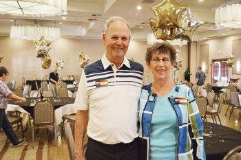 Bud and Karen Stott, the volunteers of the year