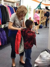 """At Kids' Closet a volunteer """"personal shopper"""" assists every child."""
