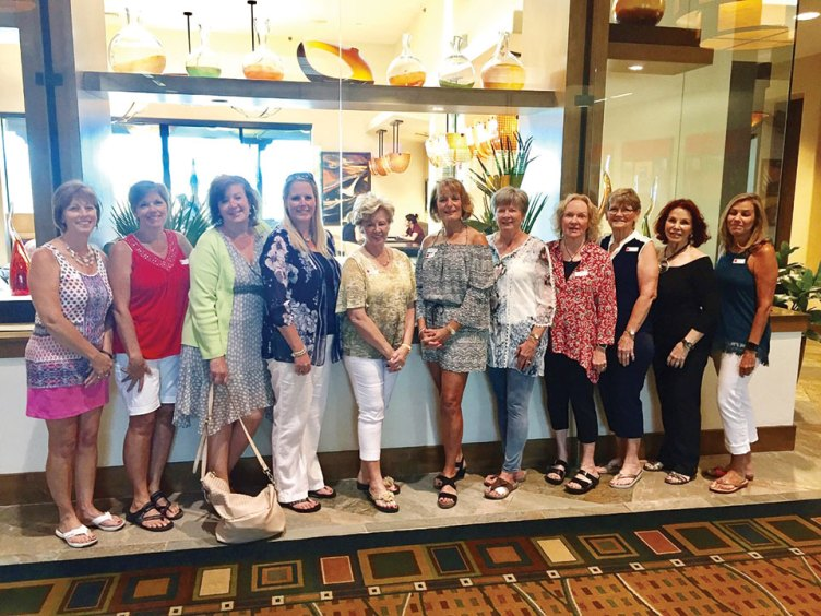 May SBRWC new members, left to right: Lydia Strickland, Ann Powers, Melanie Chase, Tish Atchley, Janet Hansen, Michelle Carter, Patricia Smejkal, Carol Matthews, Sandee Bickelhaupt, Diane Taylor and Denise Smith