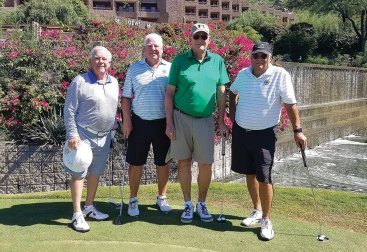 Men's second place: Dan Culver, Dave Hansel, Bob Erickson and Bill Moore with a score of 58!