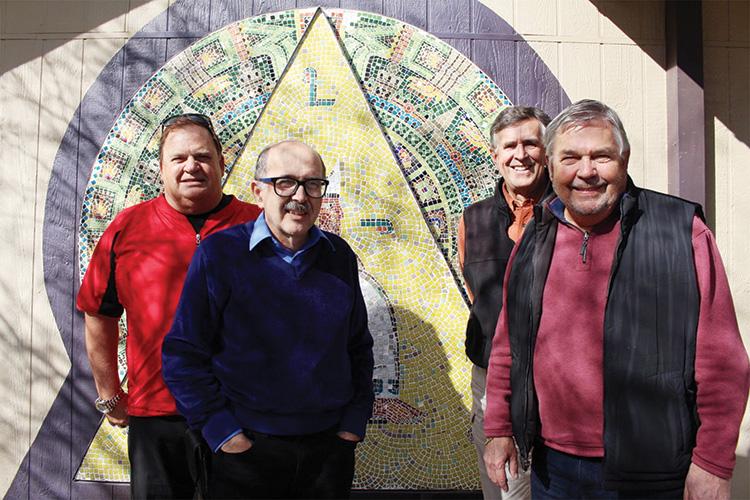 From left to right: Pastor Steve Wilson, Loren Hawthorne, Steve Willis and Keith Gordon.