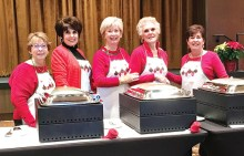 Left to right: Sandy Seay, Mindy Hawkins, Colleen Carey, Judy Andrasic, and Mary Spyros