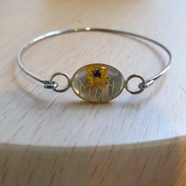 Silver Sunflower Bangle