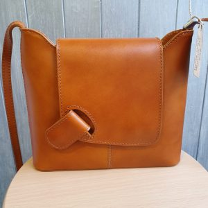 Isabella Italian Leather Messenger Bag