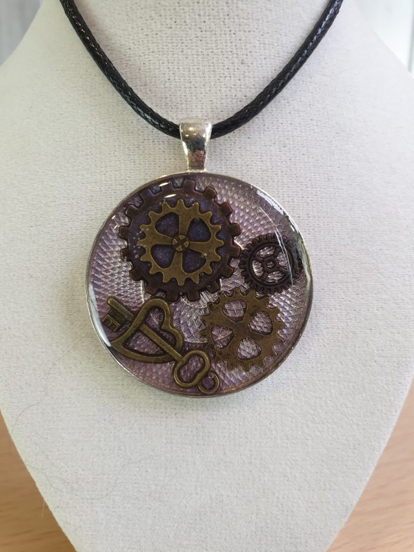 Key And Cogs Steampunk Pendant