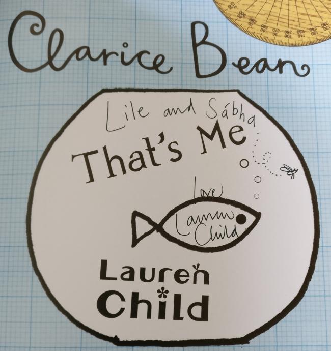 Leabhar sínithe ag Lauren Child