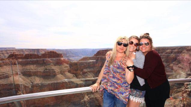 Grand Canyon: Mum (Paula), Myself, Sister (Faye)