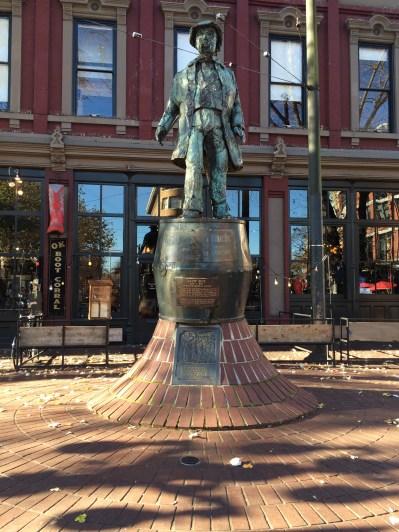 Gassy Jack Statue in Gastown