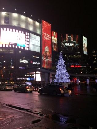 Downtown Toronto at Christmas time