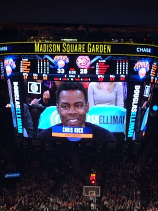 Chris Rock at the New York Knicks
