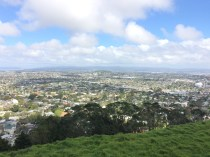 View from Mount Eden- outskirts of Auckland CBD