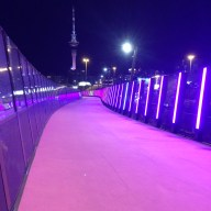 Te Ara I Whiti- The Lightpath bridge in Auckland
