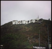 Windy Wellington sign, near the Airport