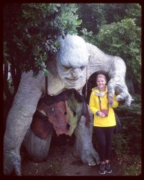 Me with a troll- as you do.