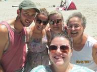 The five of us at Pauanui beach