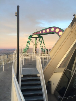 Insanity Rollercoaster at the top of the Stratosphere Hotel