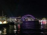 Sydney Opera Harbour Bridge illuminated by Vivid Lights, Music and Ideas