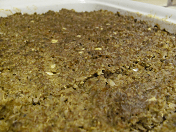 Photo of home-cooked dog food just out of the oven