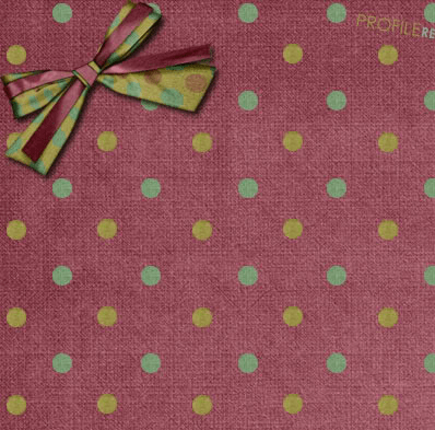 Cute Twitter background maroon polka dots and ribbon