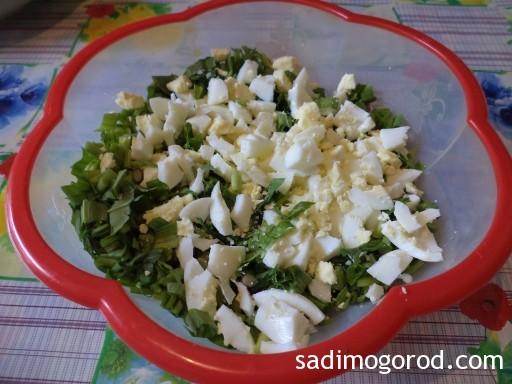 салат с черемшой и яйцами 6