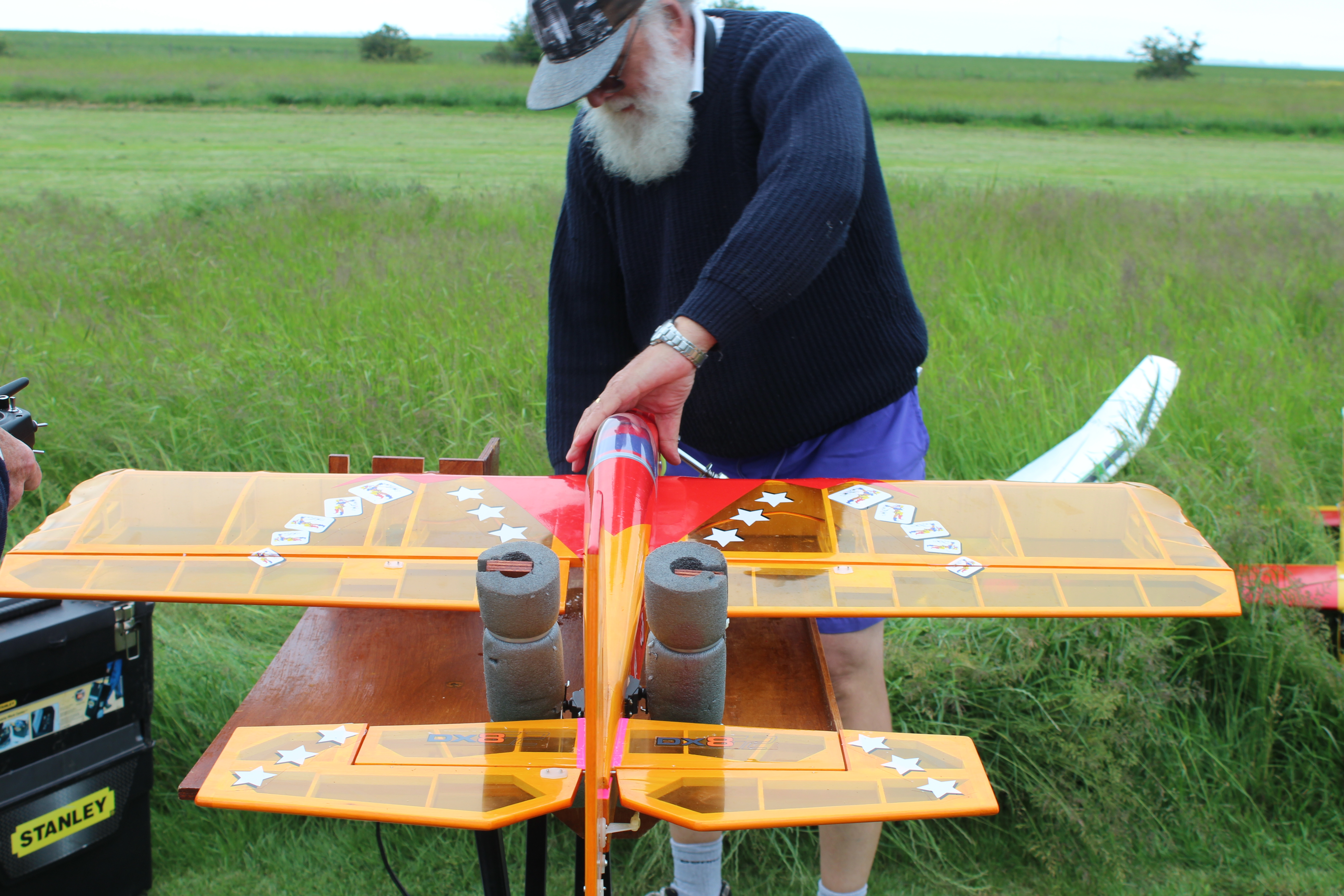 Snr's Wildcard being prepped for it's maiden flight