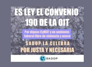 Lee más sobre el artículo Ratificación del Convenio OIT Nº 190 por el Congreso de la Nación