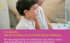 12/12: El Día Internacional de la Radio y la Televisión a favor de las Infancias