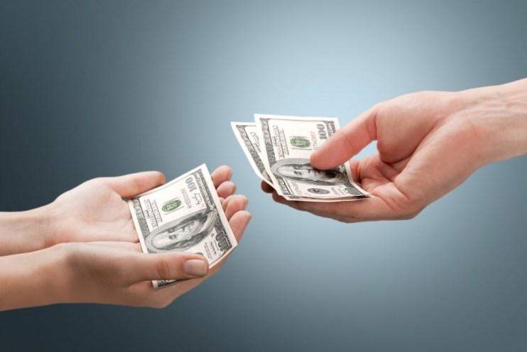 receiving a cash settlement