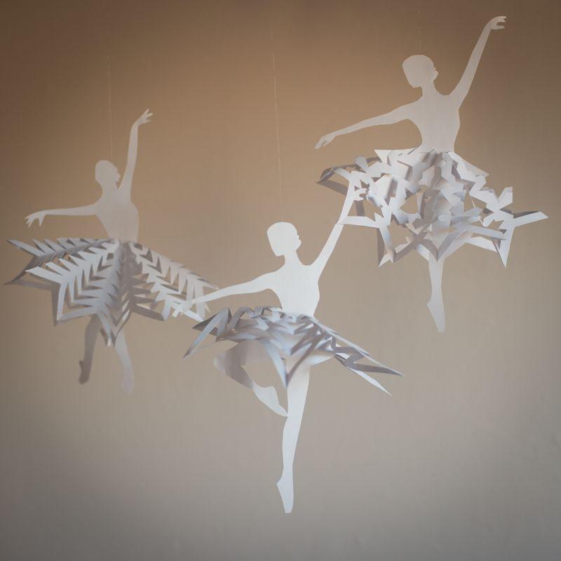 Балерина снежинкалары