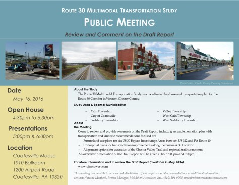 Route 30 Multimodal 160516 Meeting Flyer