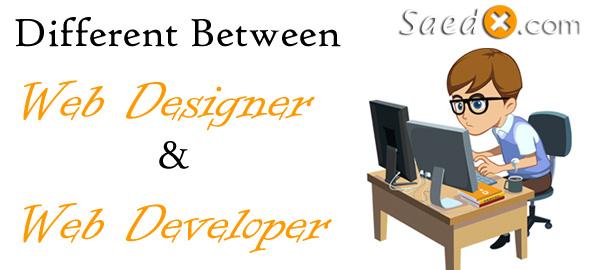 Different Between Web Designer and Web Developer