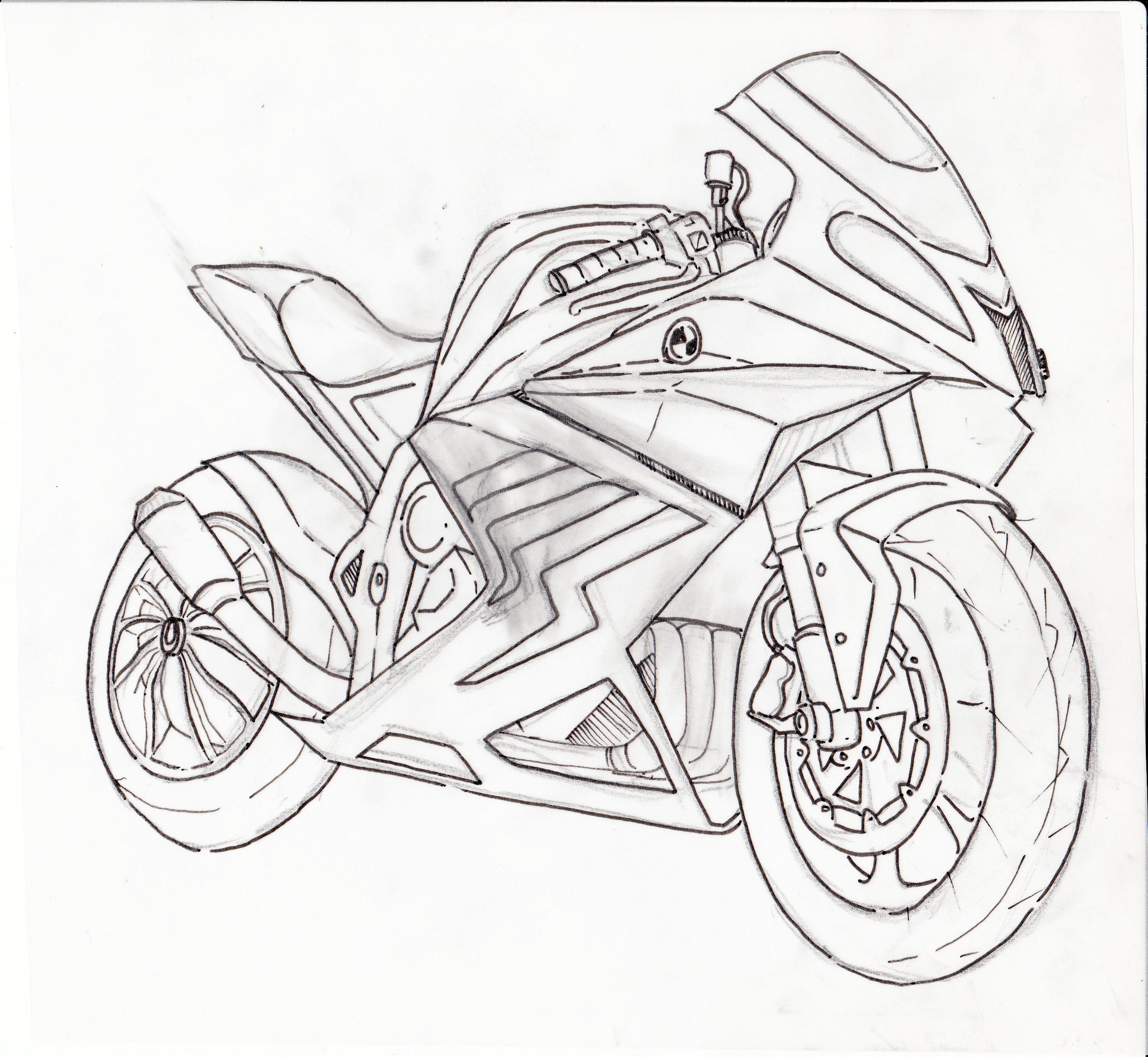 Motorcycle Sketch Design By Saengjaa Saengjaabike