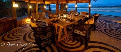 Dining area at Chamilandu