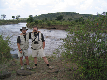 Con Nacho en el r�o Mara. Masai Mara, Kenya, agosto de2005
