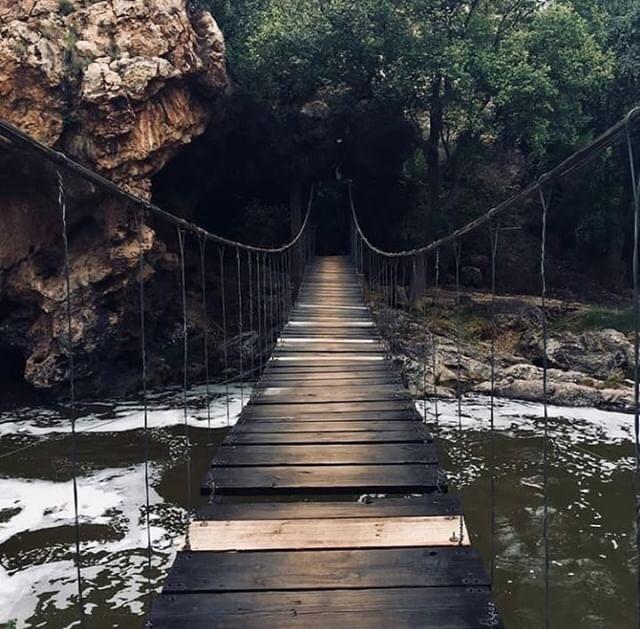 Hängebrücke Hennops Krokodilberg