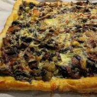 Selma's Ruby Chard, Shitake Mushroom and Chestnut Tart