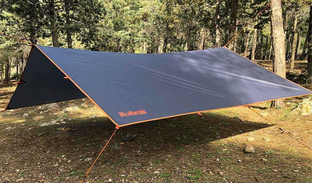 Tarp in Summer Camping