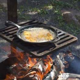 Boiled Fish over Campfire