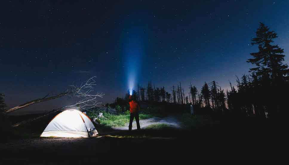 use Torch Light safely camping