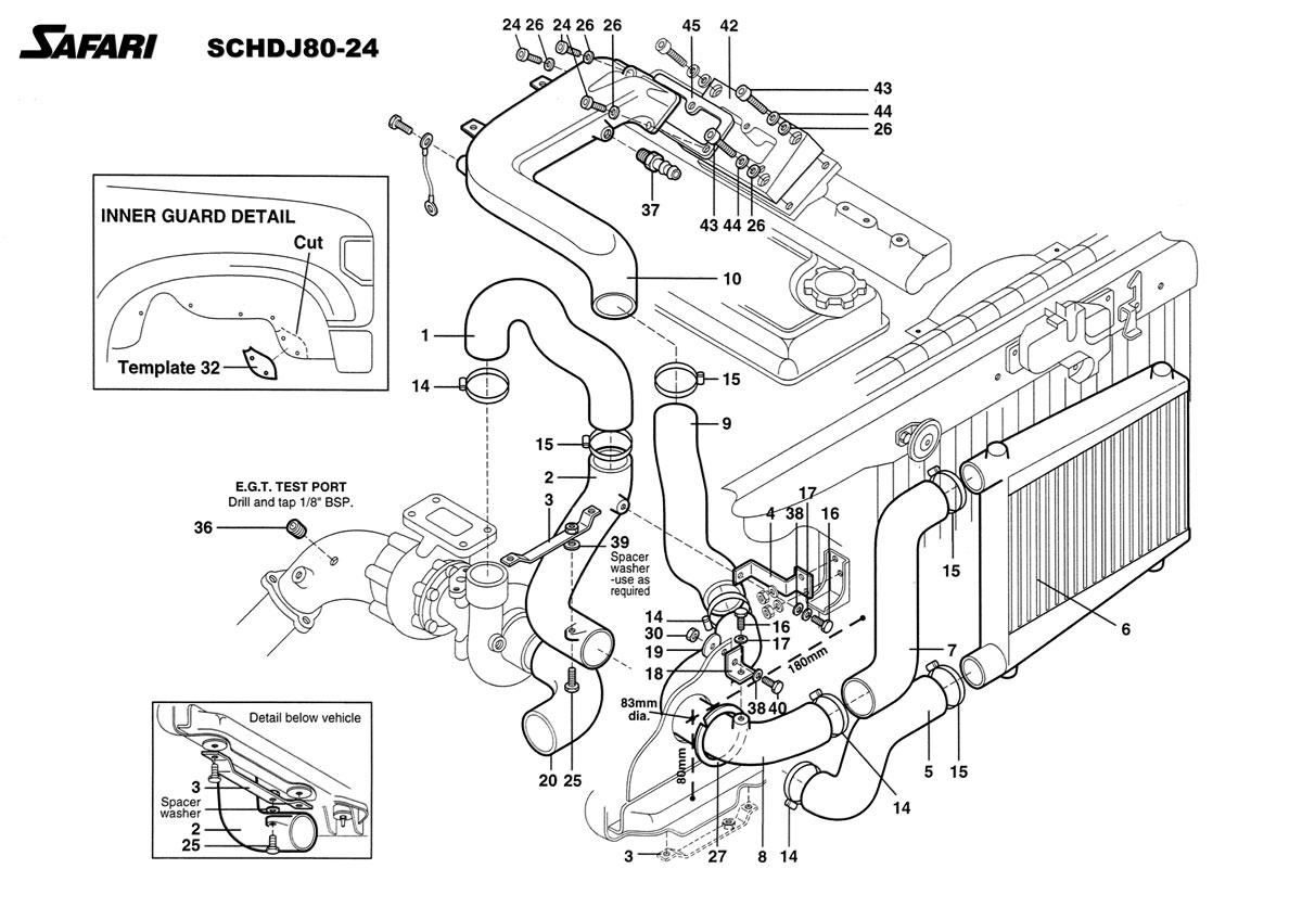 Safarisel Intercooler System For The Toyota Land